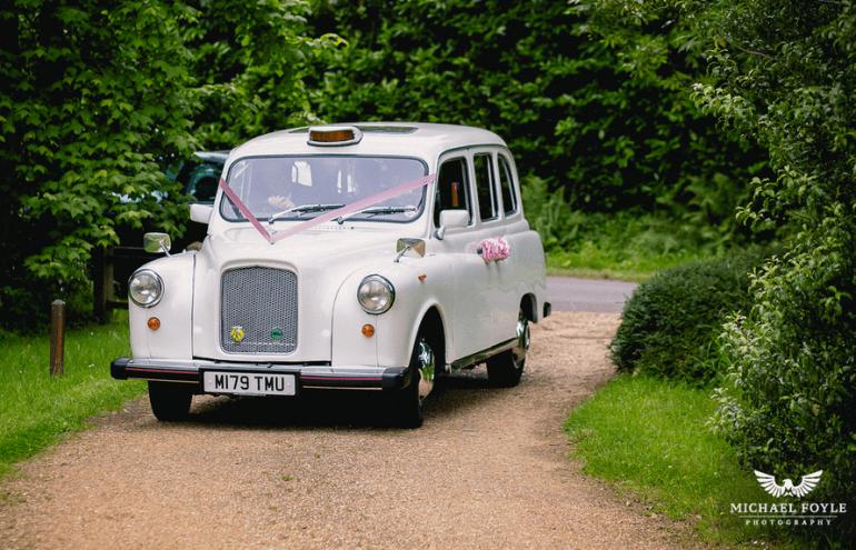 Surprise Romantic Wedding Car Booking In Dorset White London Style